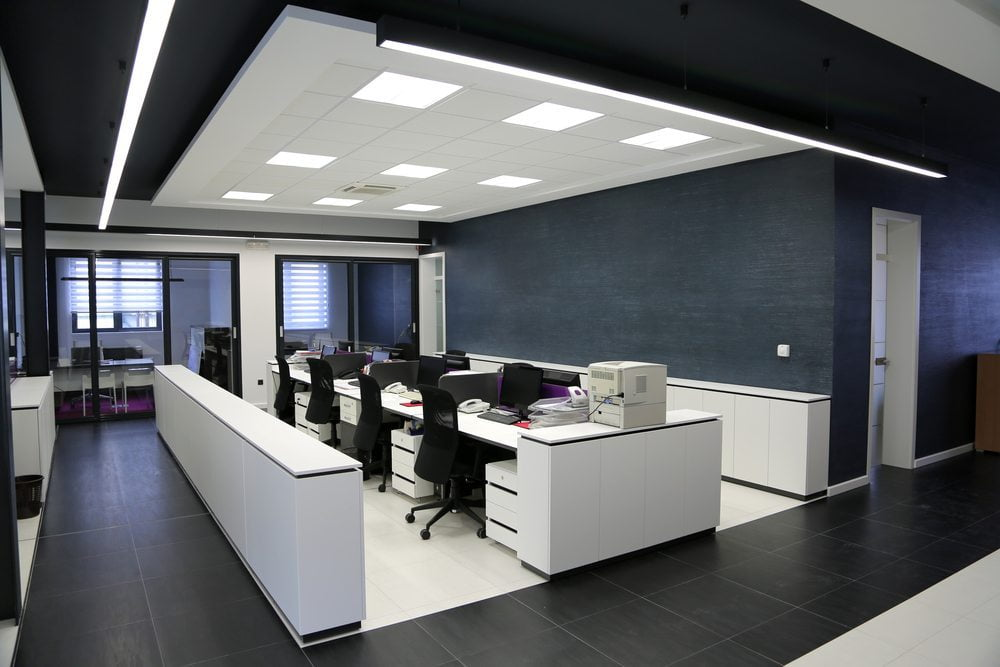 LED Panel installed in office