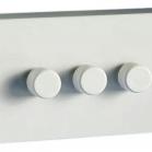 3 Gang LED dimmer white