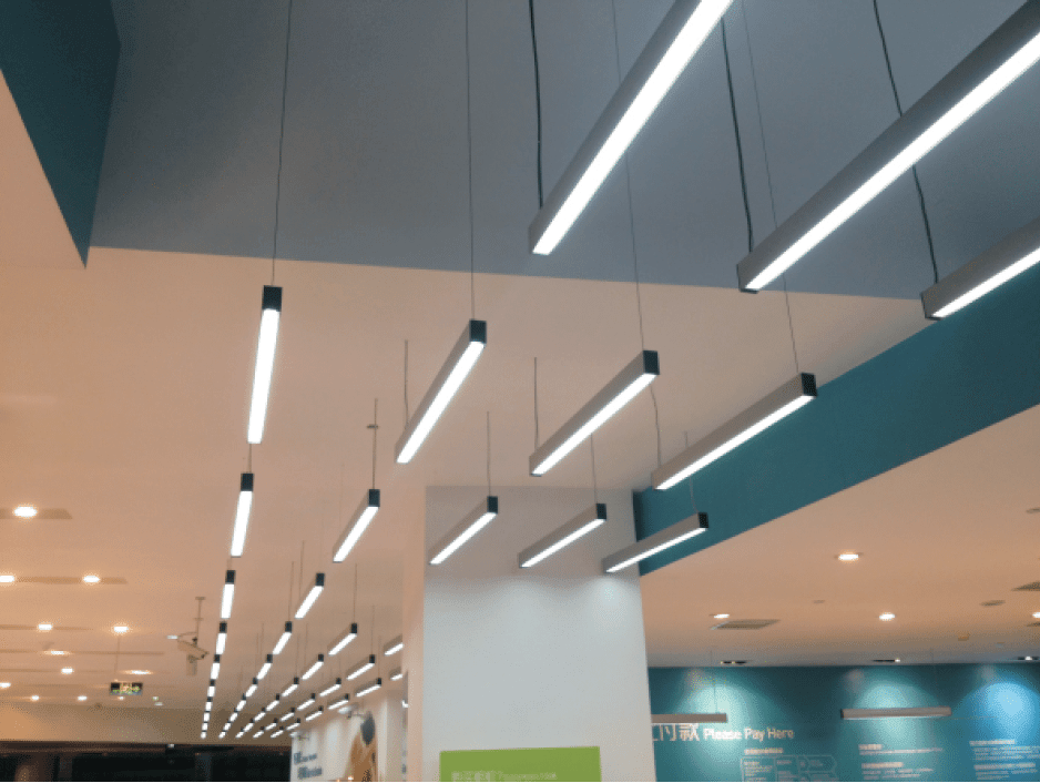 suspended lighting pendant wash dining recessed fixtures linear fixture fluorescent commercial revit wall led lights light