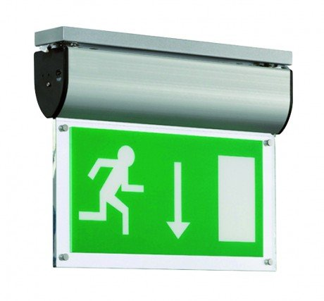 LED Emergency Exit Drop Sign