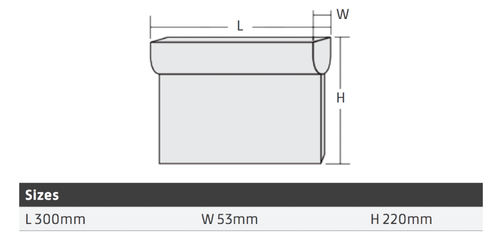 LED Emergency Exit Drop Sign Dimensions