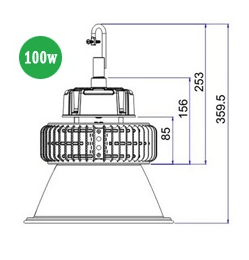 LED High Bay Lighting 100w HBE