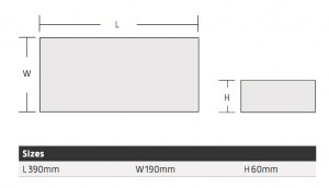 LED Emergency Exit box dimensions