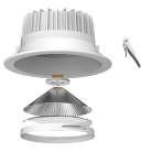 Anti-Glare Pro AG1 Dimmable LED Downlight Assembly