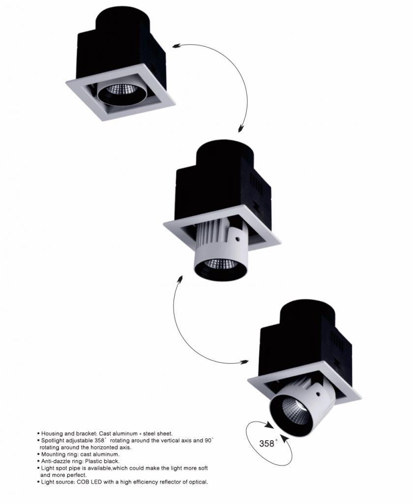 Movimientos de iluminación minorista STR LED