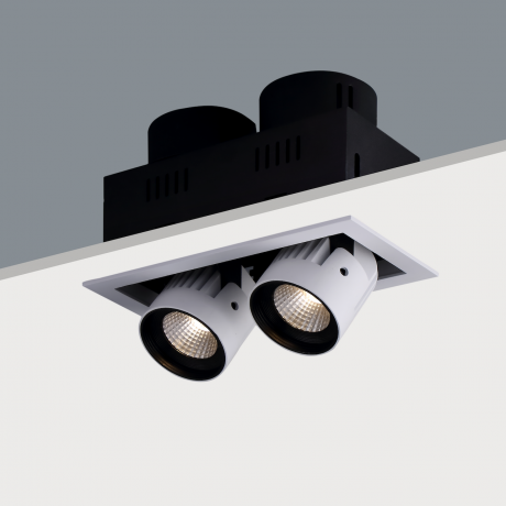 STR392 Twin Recessed Adjustable LED Spotlight (2 x 20W)