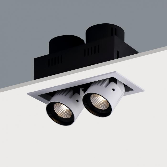 STR392 Twin Recessed Adjustable LED Spotlight (2 x 20W)