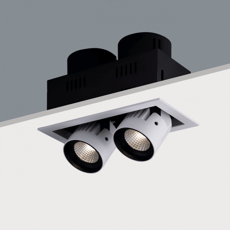 recessed spot lighting. twin recessed adjustable led spotlight 2 x 20w spot lighting t