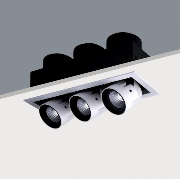 Triple Recessed Adjustable LED Spotlight (3 x20w)
