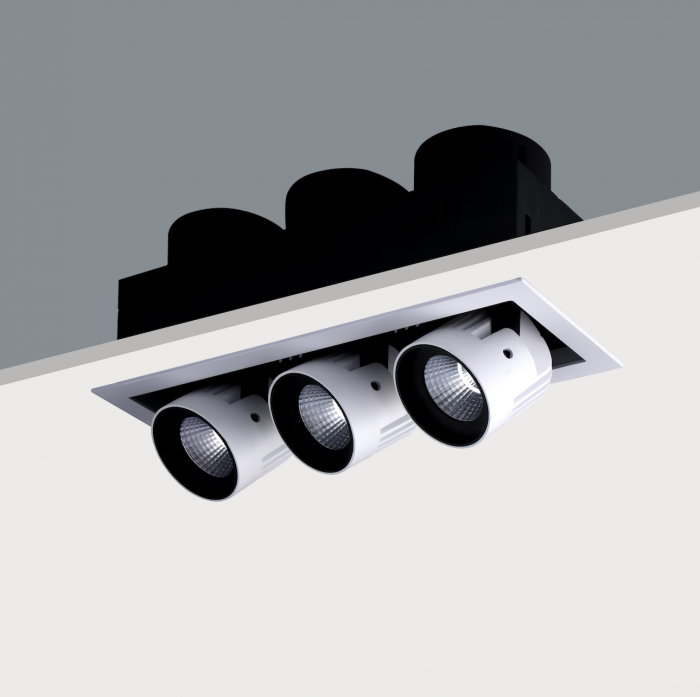 STR393 Triple Recessed Adjustable LED Spotlight (3 x20w)
