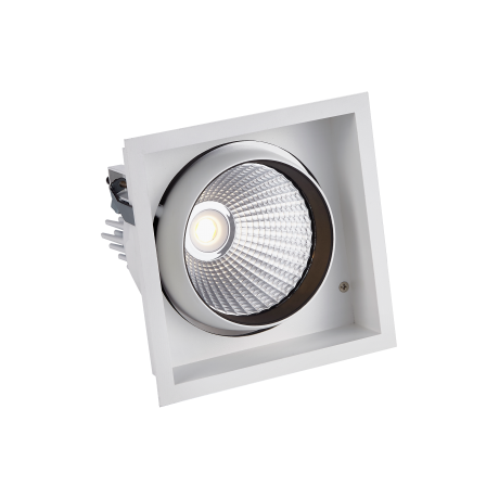 STR761 Single Recessed Square LED Tiltable Downlight