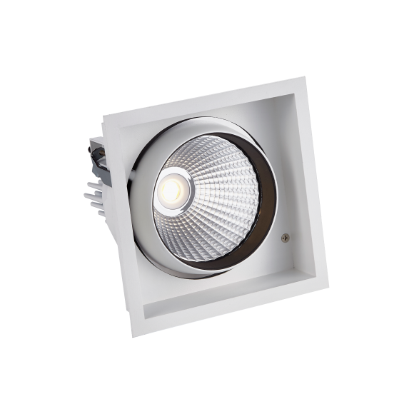 Single Recessed Square LED Tiltable Downlight (AR111 Alternative)