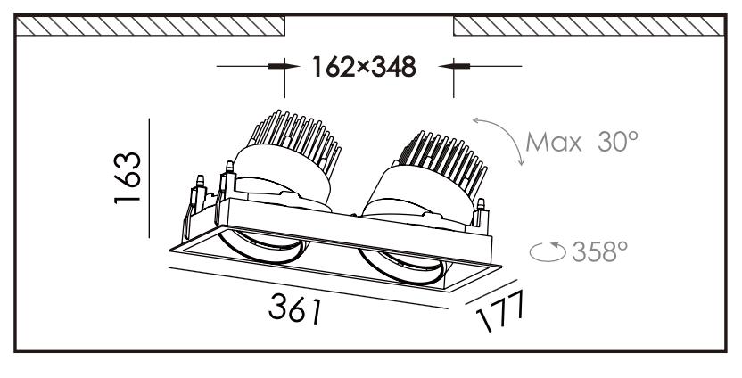 Dimensions des DEL au détail jumelles