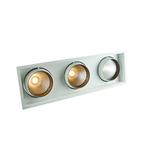 STR763 Triple Recessed Square LED Tiltable Downlight
