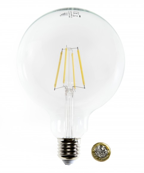 E27 Large 125mm 7W Dimmable LED Filament Bulb (G125)