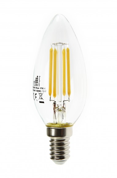 E14 4.5W Dimmable LED Filament Candle Bulb (C35)
