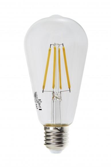 LED 7W Dimmable Filament Bulb Vintage Style Edison Shape E27 (ST64)