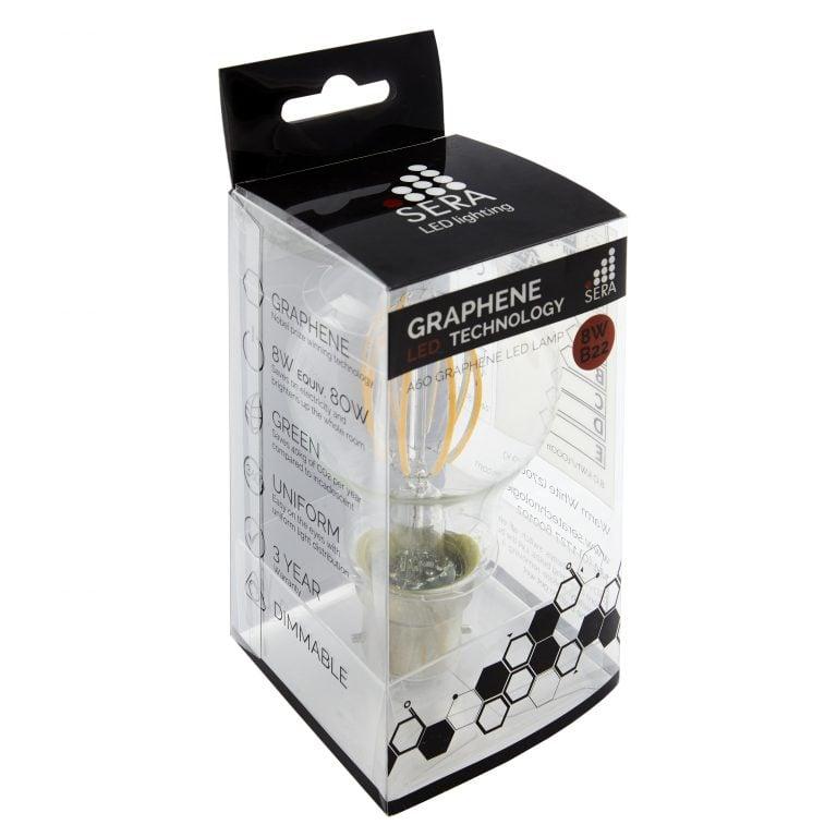 8W B22 Graphene LED Dimmable Filament Light Bulb