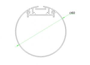 Cylindrical Suspended Linear LED Lighting STL124 Diameter