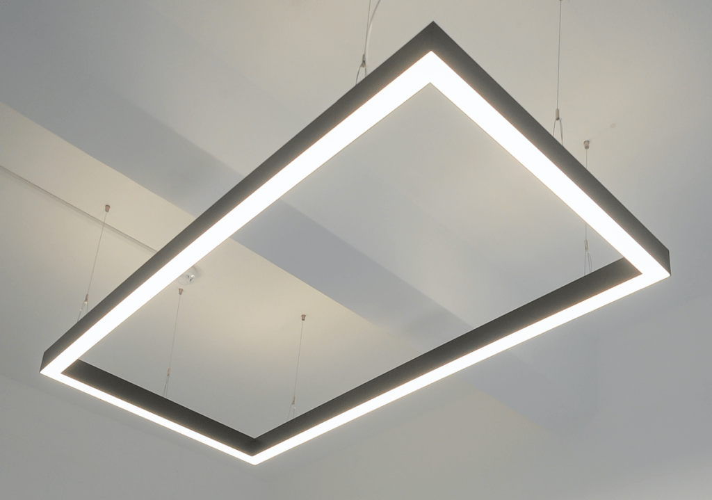 rectangle suspended led light linear fitting x lighting shop
