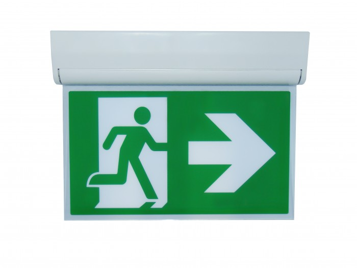 LED Emergency Exit Sign with Test (Maintained or Non-Maintained)