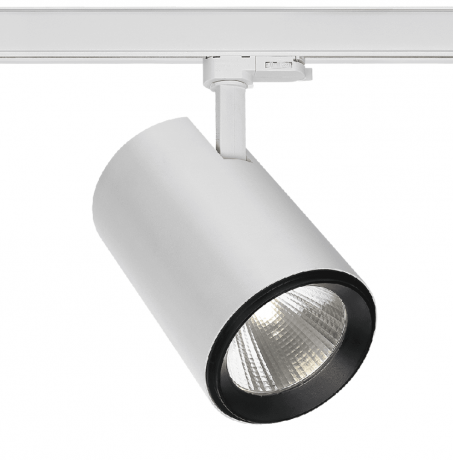 30W Large LED Track Light With 3 Circuit Adaptor