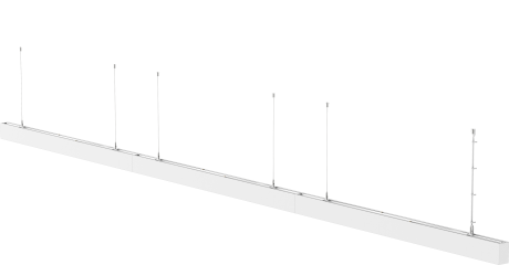 Linkable Suspended Linear LED lighting STL331 – 1500mm (1.5m), 4000K LED. Black or white finish. (Continuous Office Pendant Light)