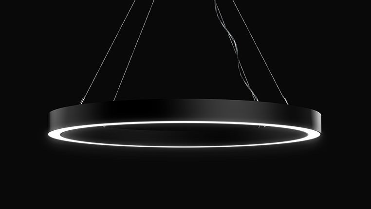 James Halo LED ring Pendant Black