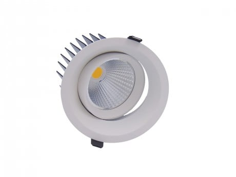 20W Pro AG2 Low Glare Tiltable LED Downlight (Adjustable)