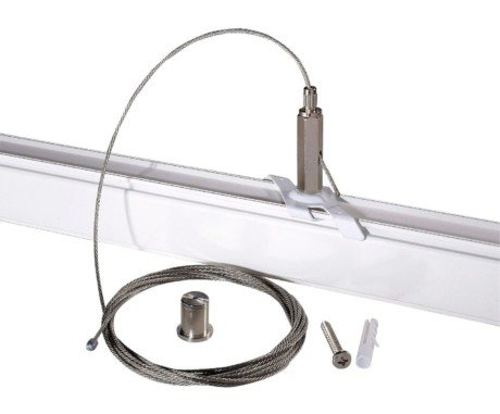 Track Lighting 5m Wire Suspension Kit – Powergear™ PRO-EZ0449 (Finish: Black / White)