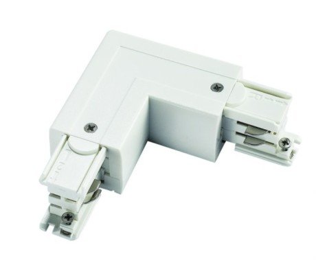 3 Circuit L Connector For LED Track Lighting, black or white (Powergear PRO-0435 )