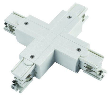 3 Circuit LED Track X Cross Connector, black or white (Powergear Pro-0437 )