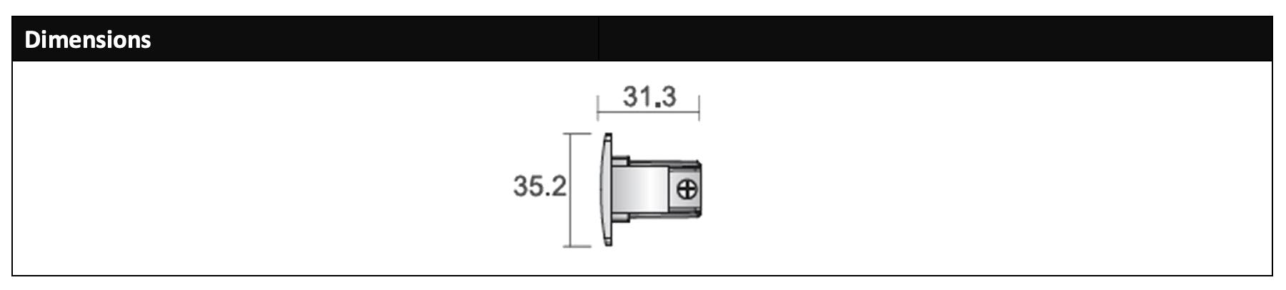 Powergear Pro- 0432 LED-sporhætte dimensioner