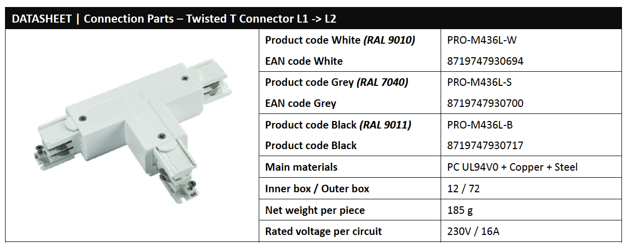 Twisted T Connector L1 to L2 Data