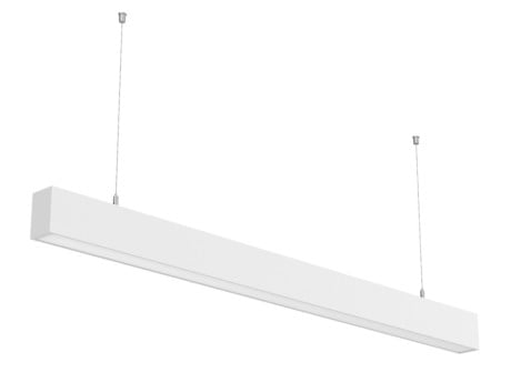 Linkable Long DALI Dimmable Suspended Linear LED Lighting – 1200mm (1.2m), 2400mm (2.4m) – Up To 110m (STL371) Black or White finish.