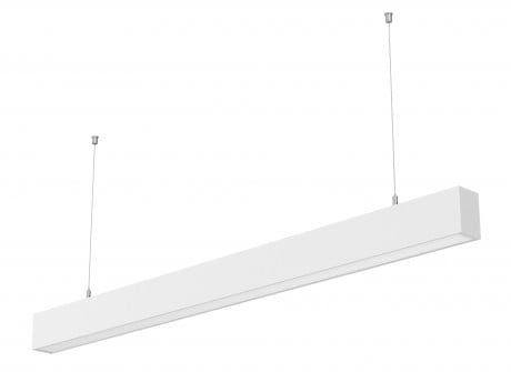 Linkable Linear Suspension Lighting DALI Dimmable  STL371 (Finish: Black / White – Length: 1.2m, 2.4m)