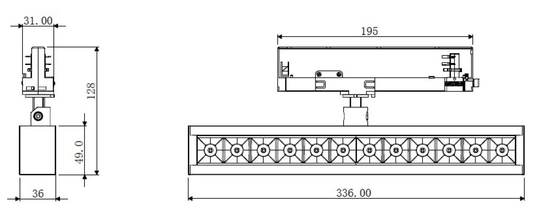 Dimension NLO Track Linear light