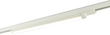 Fixed Linear LED Track Light, black or white with 3 circuit adaptor ( 600mm, 1000mm )