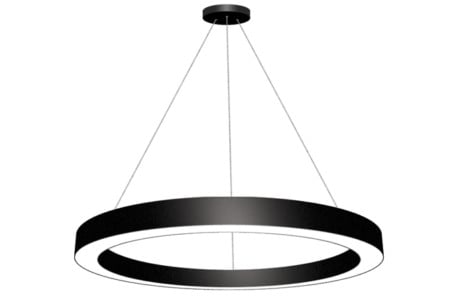 LED Circular Ring Pendant Lighting ( Size: 650mm, 950mm, 1250mm, 1550mm Finish: Black / White)