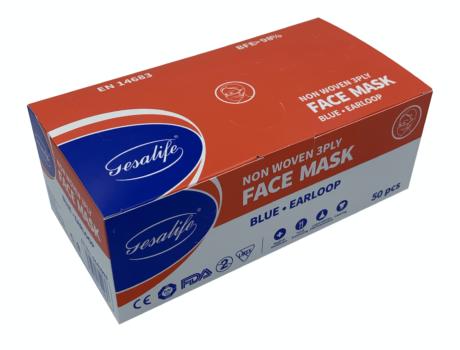 Gesalife Disposable Surgical Face Masks EN14683:2014 Type II