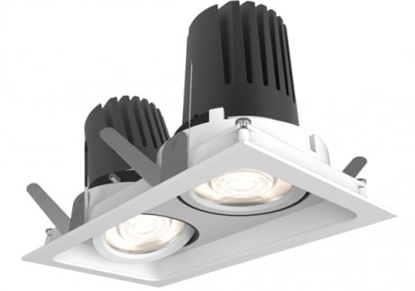 9W View 50 Adjustable Square Twin Downlight