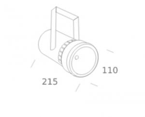 GLEE LED Track Light Dimensions