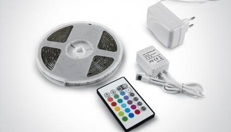 RGB LED Strip Light Kit – 5m With Remote Control